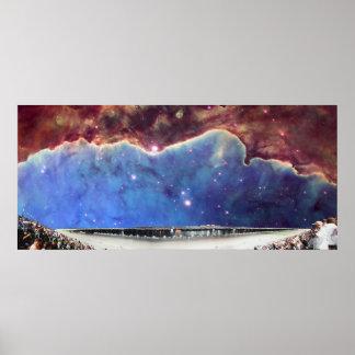 Nacimiento del carretera y de la estrella NGC3324  Póster
