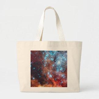 Nacimiento del cierre cósmico del bolso de la lona bolsa tela grande