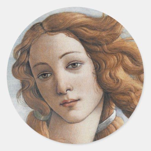 Nacimiento del cierre de Venus encima de la cabeza Pegatina