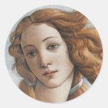 Nacimiento del cierre de Venus encima de la cabeza Pegatina Redonda