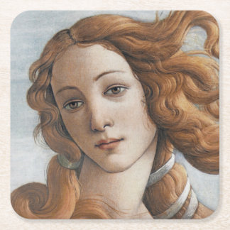 Nacimiento del cierre de Venus para arriba por Posavasos Desechable Cuadrado