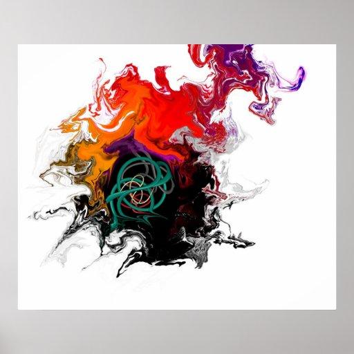 Nacimiento del color póster