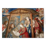Nacimiento del detalle de la tapicería de Cristo Tarjeton