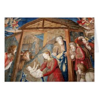 Nacimiento del detalle de la tapicería de Cristo Tarjeta De Felicitación