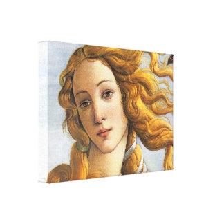 Nacimiento del detalle de Venus, Botticelli Impresiones En Lona Estiradas