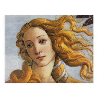 Nacimiento del detalle de Venus, Botticelli Posters