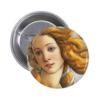 Nacimiento del detalle de Venus, Botticelli Pin