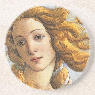 Nacimiento del detalle de Venus, Botticelli Posavaso Para Bebida