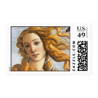 Nacimiento del detalle de Venus, Botticelli Sello