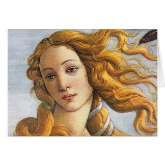 Nacimiento del detalle de Venus, Botticelli Tarjeta De Felicitación