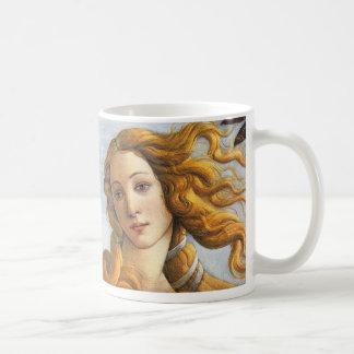 Nacimiento del detalle de Venus, Botticelli Taza De Café