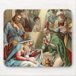nacimiento del mousepad de Cristo Alfombrilla De Ratón