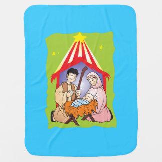 Nacimiento del navidad de la natividad del manta de bebé