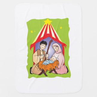 Nacimiento del navidad de la natividad del mantita para bebé
