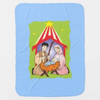 Nacimiento del navidad de la natividad del mantas de bebé