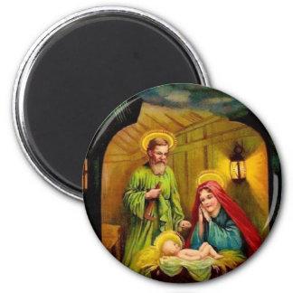 Nacimiento del navidad del vintage de Jesús Imanes De Nevera