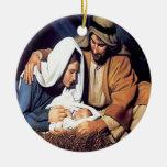 Nacimiento del ornamento del navidad de Jesús Ornamentos De Reyes