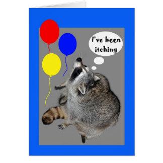 nacimiento del picor tarjeta de felicitación