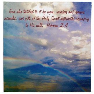 Nacimiento del verso de la biblia para el 4 de feb servilleta imprimida