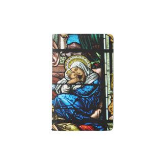Nacimiento del vitral de Jesús Funda Para Libreta Y Libreta Pequeña Moleskine