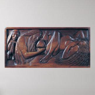 Nacimiento, el panel de madera de la cama, 1894 posters