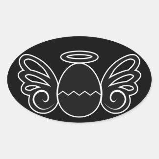 Nacimiento Pegatinas Oval Personalizadas