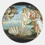 Nacimiento-Venus-Botticelli Pegatina Redonda