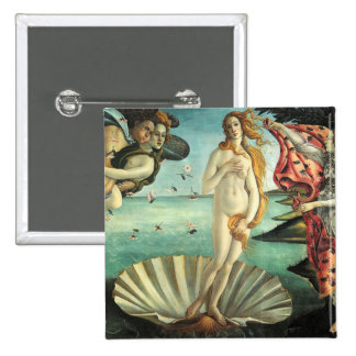 Nacimiento Venus Botticelli Pin Cuadrada 5 Cm