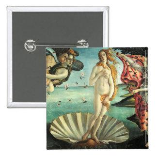 Nacimiento Venus Botticelli Pin Cuadrado