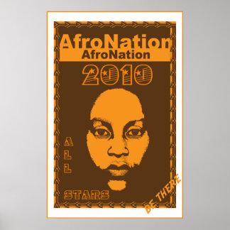 Nación 2010 del Afro todo el poster de los deporte