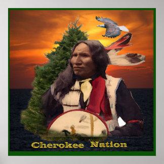Nación cherokee póster