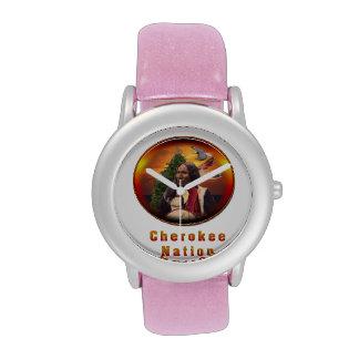 Nación cherokee relojes de mano