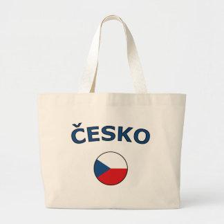 nación-círculo-checo bolsa tela grande