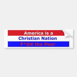 Nación cristiana Bumpersticker Pegatina Para Auto