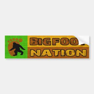Nación de Bigfoot Pegatina De Parachoque