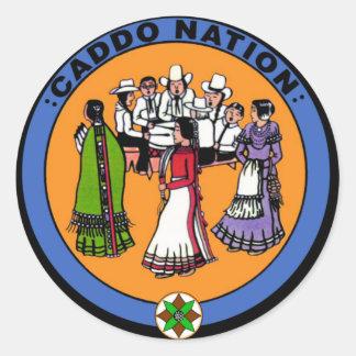 Nación de Caddo Pegatina Redonda