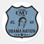Nación de EMT Obama Etiquetas Redondas