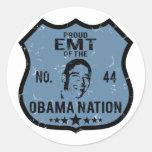 Nación de EMT Obama Pegatina Redonda