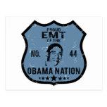 Nación de EMT Obama Tarjeta Postal