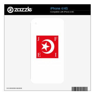 Nación de la bandera del Islam Calcomanía Para El iPhone 4