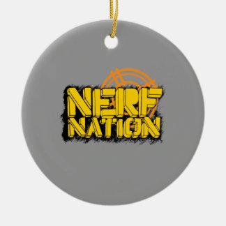 Nación de Nerf Adorno Navideño Redondo De Cerámica