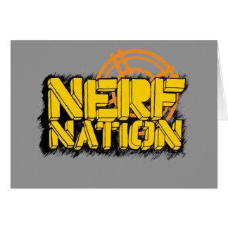 Nación de Nerf Tarjeta De Felicitación