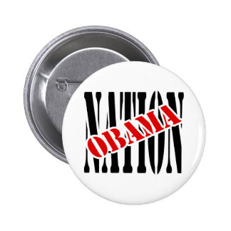 Nación de Obama con coincidencia y el esquema Pin Redondo De 2 Pulgadas
