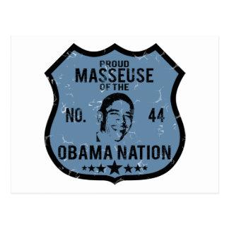 Nación de Obama de la masajista Postal