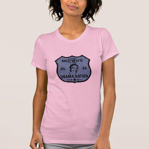 Nación de Obama de la partera Camisetas