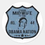Nación de Obama de la partera Etiquetas Redondas