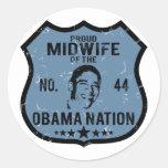 Nación de Obama de la partera Pegatina Redonda