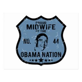 Nación de Obama de la partera Tarjeta Postal