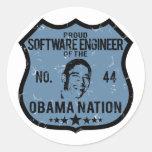 Nación de Obama de la Software Engineer Pegatina Redonda