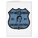 Nación de Obama de la Software Engineer Felicitacion